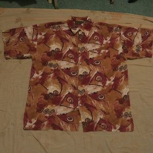 VTG Monzini Collection Button Up Shirt Swirl